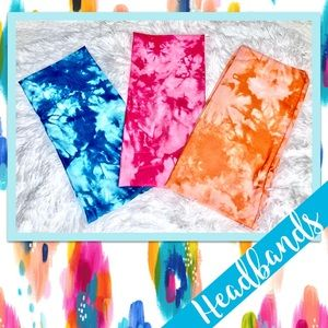 Tie Dye Headband in Blue, Pink or Orange